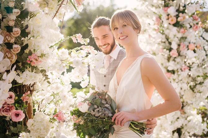 Editorial de casamento ao ar livre no Terras de Clara - look 1