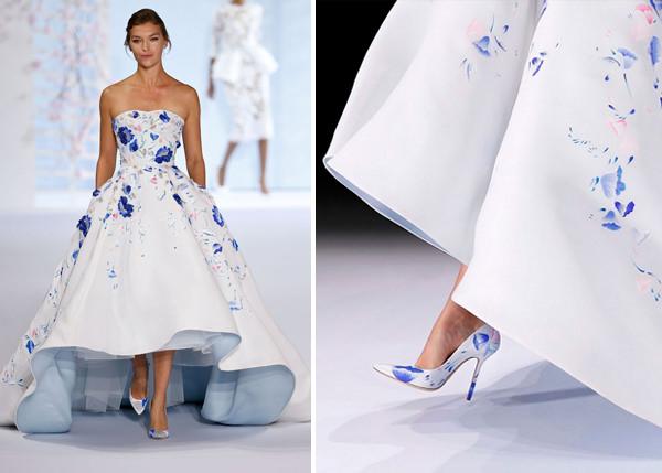 20 vestidos de noiva com detalhes coloridos