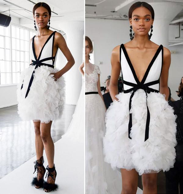 Vestidos branco e preto 2018