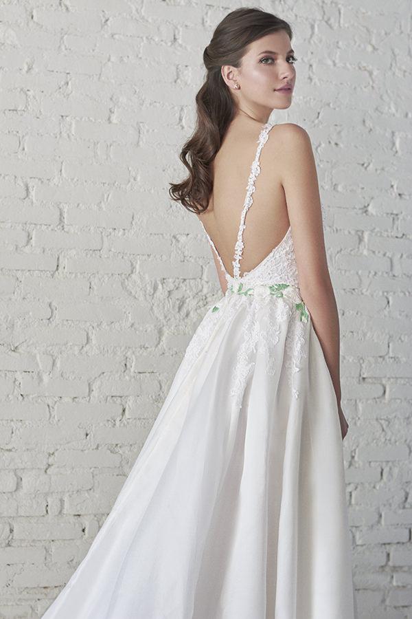 Vestido de noiva verde claro