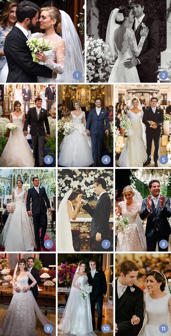 Retrospectiva 2017: casamentos clássicos