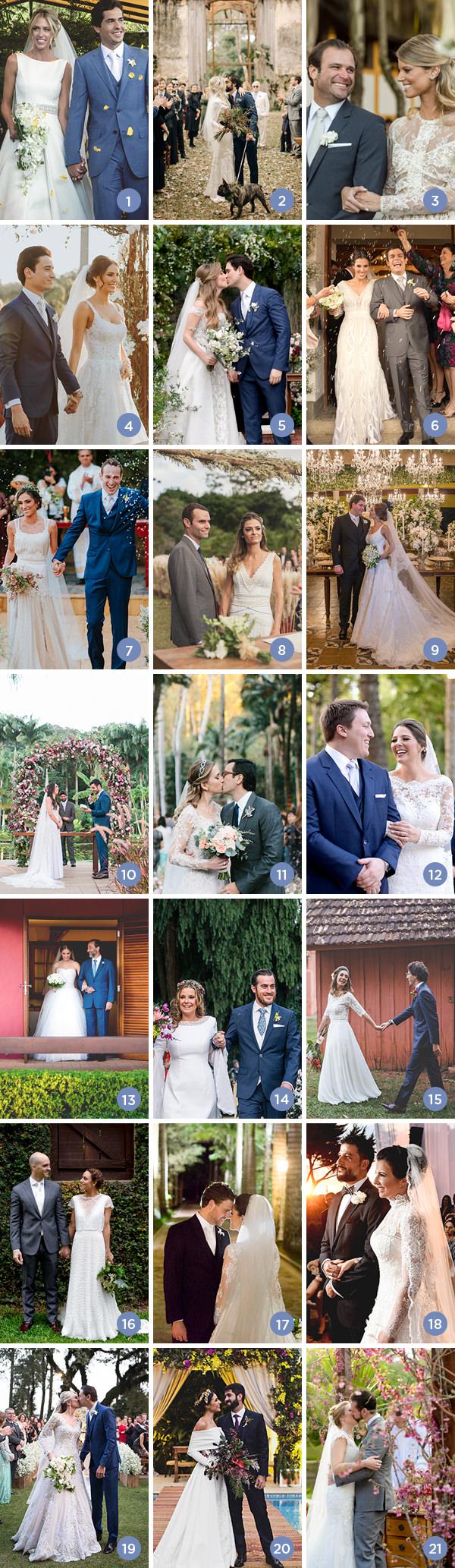 Retrospectiva 2017: casamentos no campo
