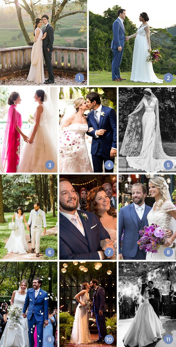 Retrospectiva 2017: casamentos no jardim
