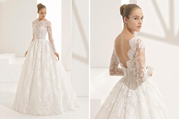 9618f9e03 A Rosa Clará é conhecida pelos vestidos de noiva clássicos, com saias  volumosas e aplicações de renda, que são o DNA da estilista espanhola.